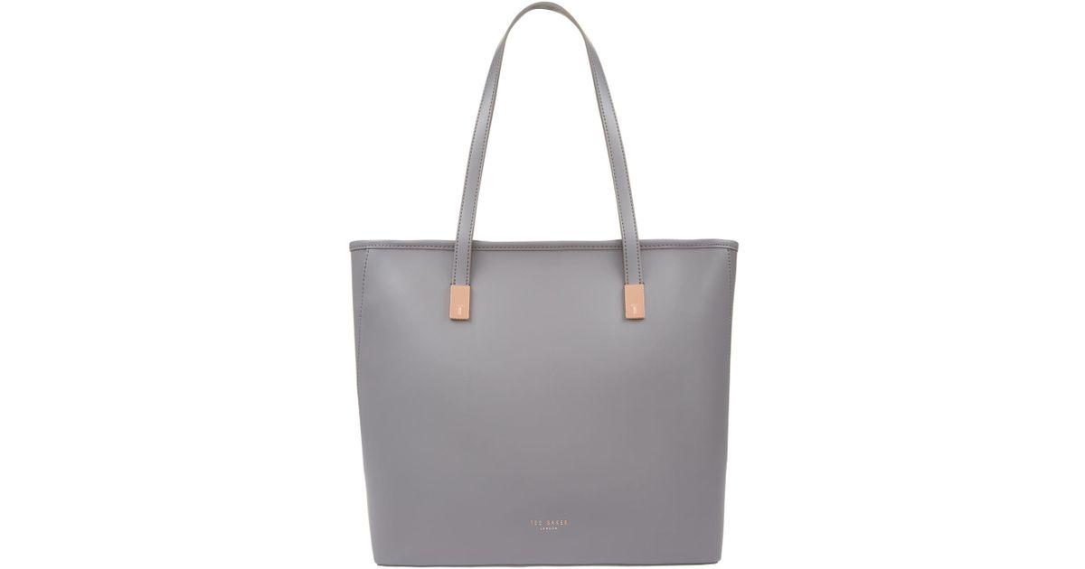 d09ba566e95d2 Lyst - Ted Baker Chelsey Leather Shopper Bag in Gray