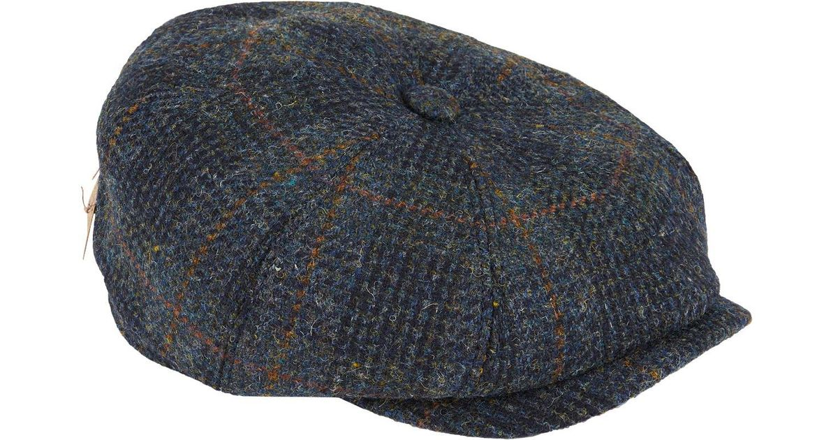 ff858cfc063971 Stetson Hatteras Harris Tweed Hat in Blue for Men - Lyst