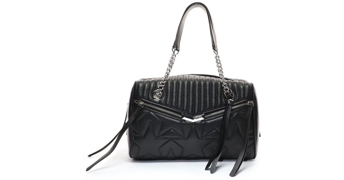 b045579f27 Jimmy Choo Leather Helia Bowling Bag in Black - Lyst
