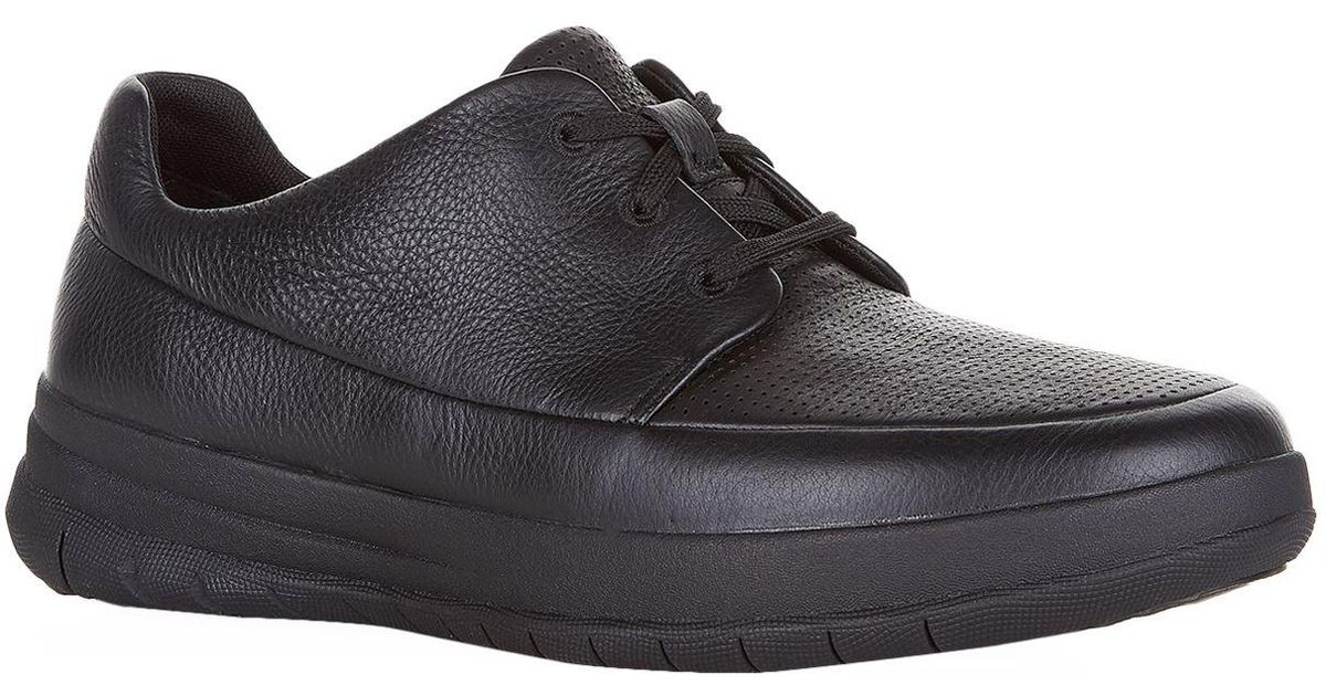 a7671719c78a3 Lyst - Fitflop Leather Sporty-pop Perforated Sneakers in Black for Men