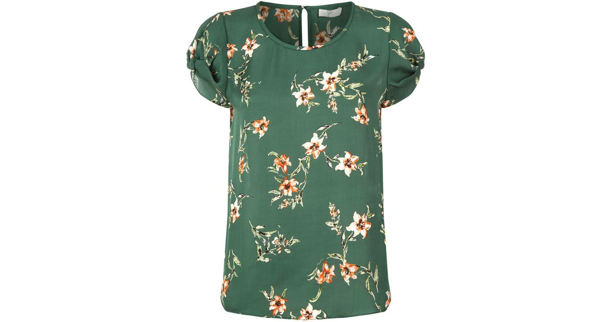 3ef1ee8464d91 Joie Elline Silk Floral Top in Green - Lyst