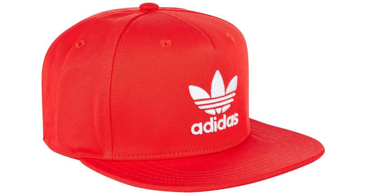 7429ed1f ... spain lyst adidas originals trefoil trucker cap in red for men 357b6  43e6e