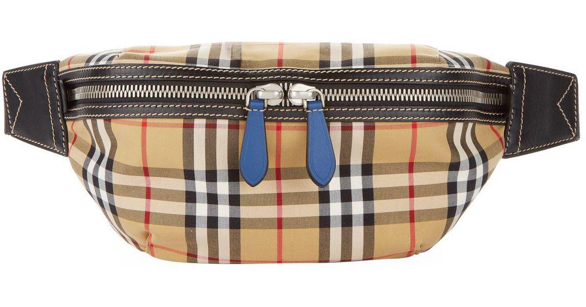 16081237eb0 Burberry Vintage Check Belt Bag in Blue for Men - Lyst