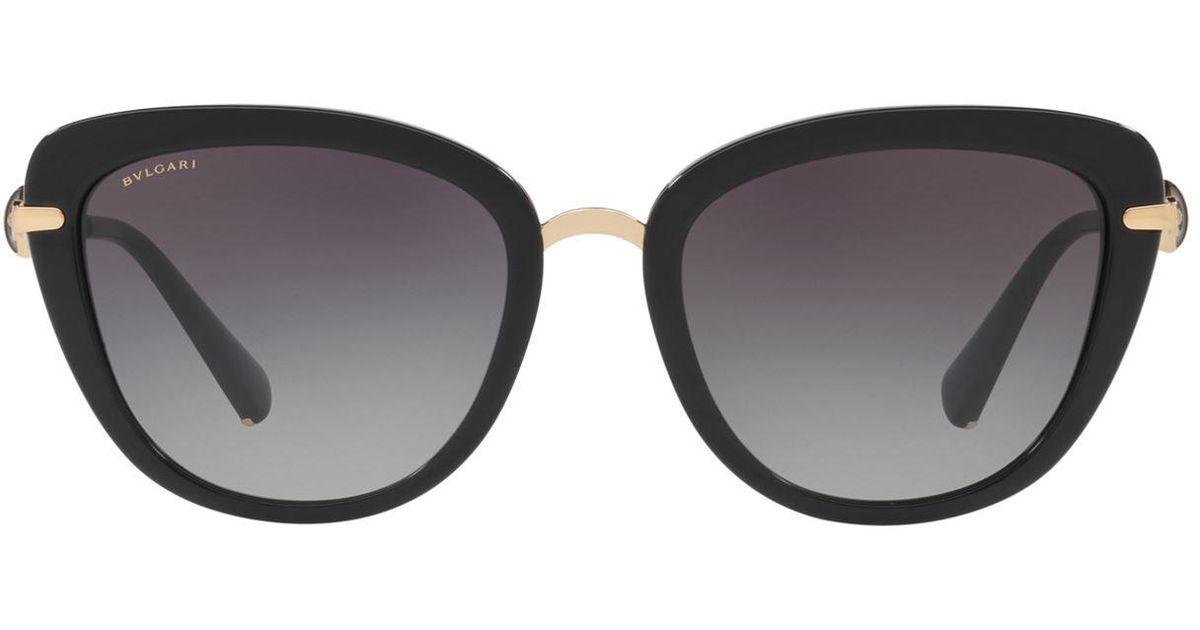 8cf9d95eeba54 BVLGARI Divas  Dream Cat Eye Sunglasses in Black - Save 23% - Lyst