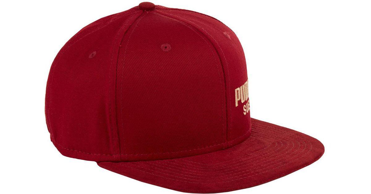 ... italy lyst puma archive faux suede cap in red for men bfa8a 5de39 9d7e7d4f1