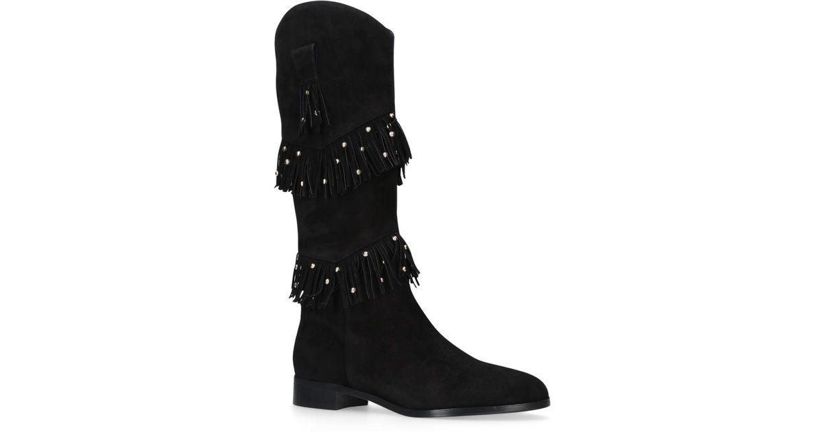 c5e265d1911 Aquazzura Kentucky Knee High Boots in Black - Lyst