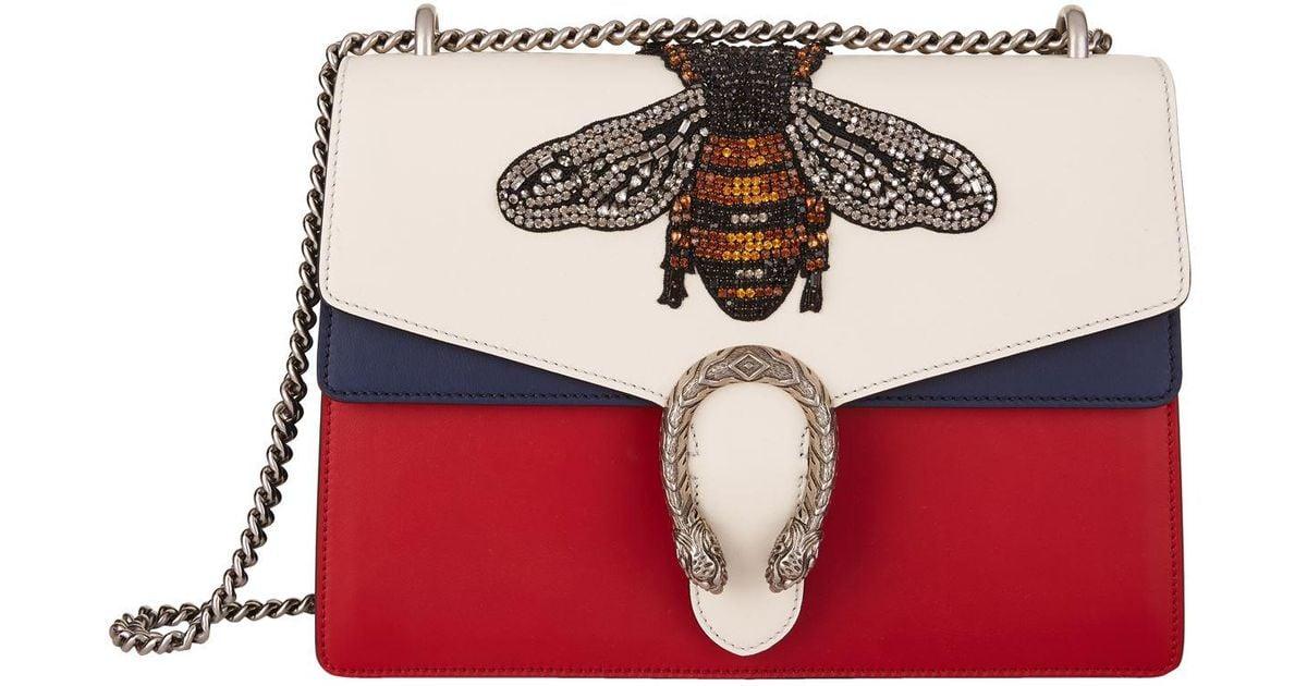 2df1005f1cac Gucci Dionysus Embellished Bee Shoulder Bag - Lyst