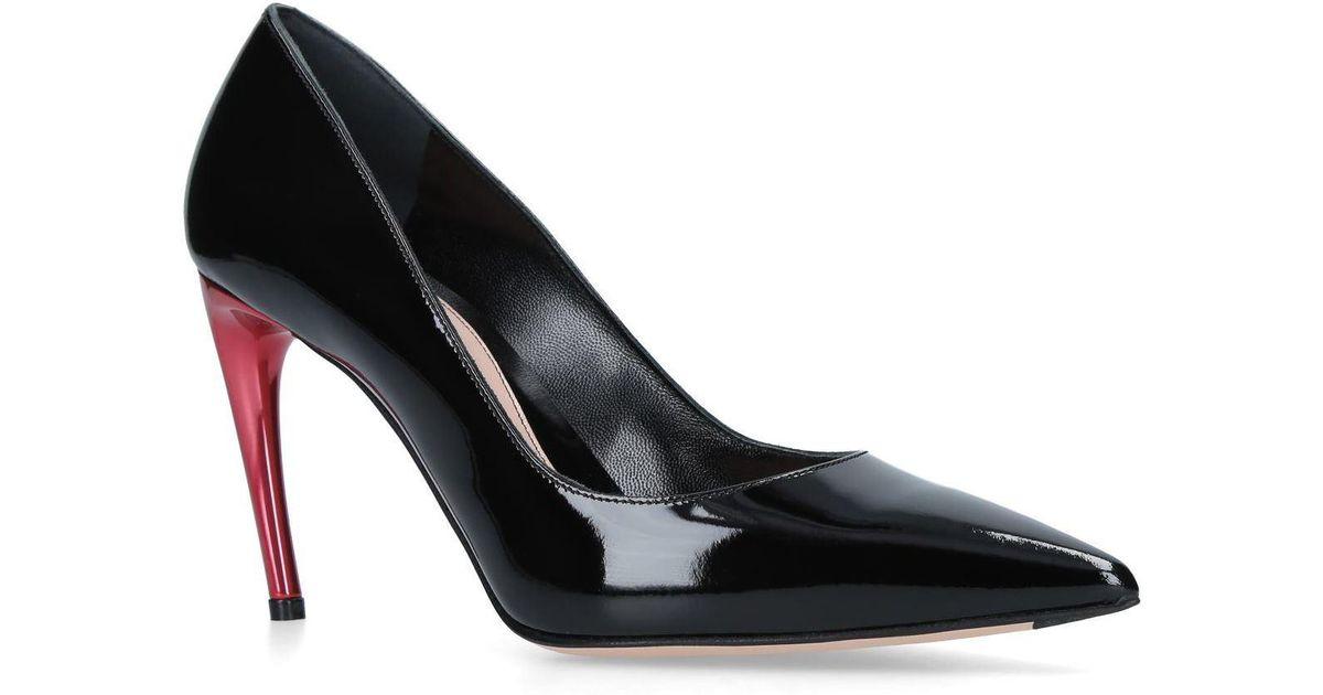 a039b38d506f Lyst - Alexander McQueen Horn Heel Pumps 70 in Black