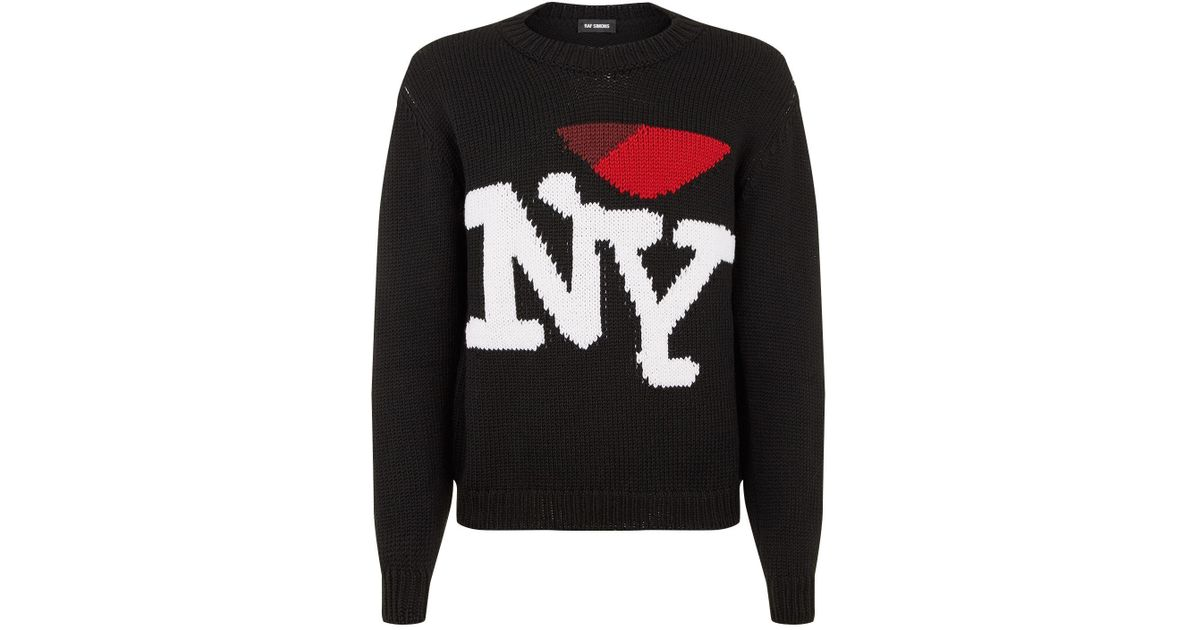 Lyst Raf Simons Nyc Sweater In Black For Men