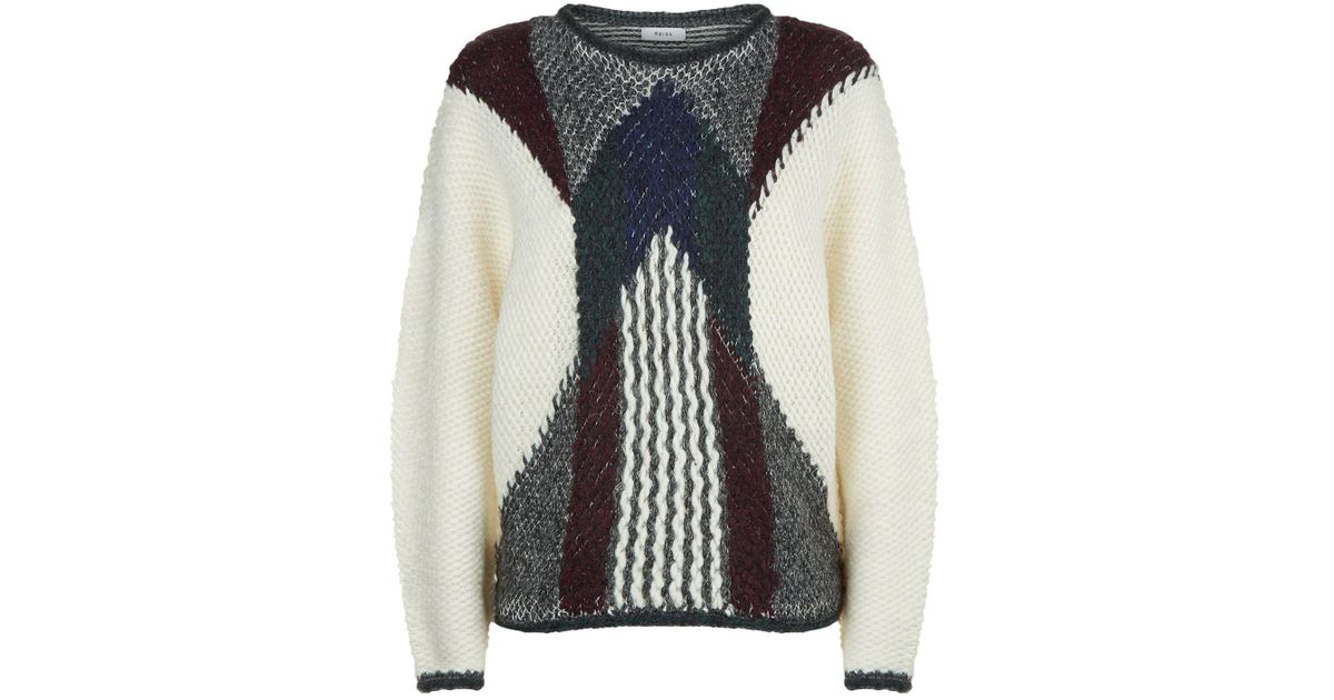 Reiss Jemima Thick Knit Sweater in White for Men | Lyst
