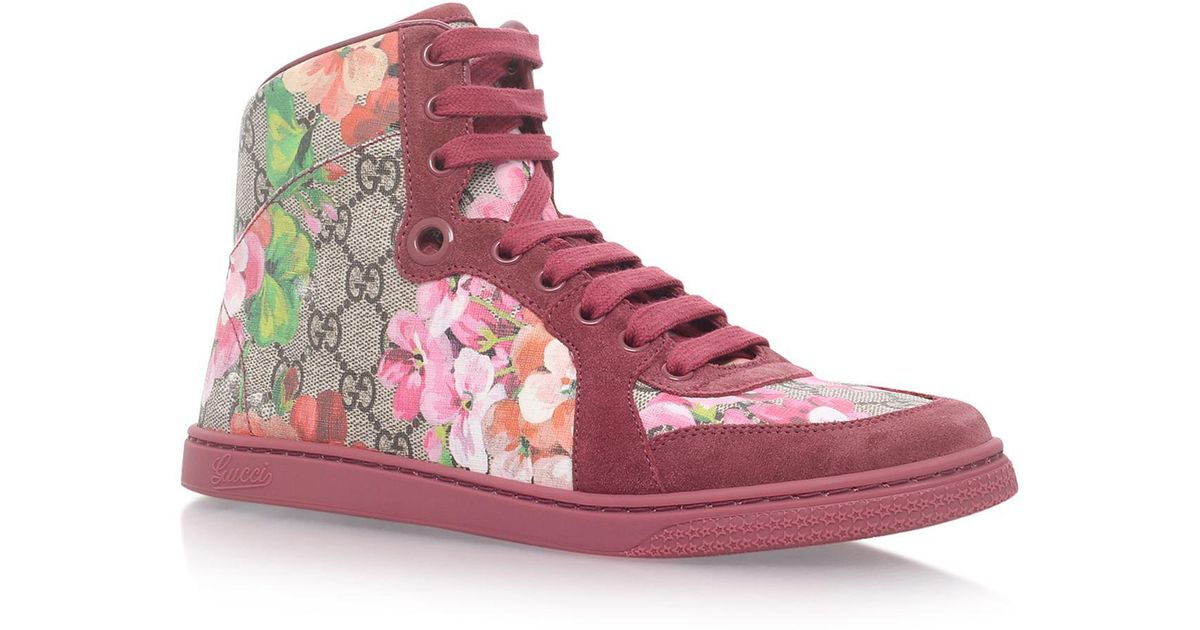 05fa61b89d9 Lyst - Gucci Coda High Top Sneakers in Pink
