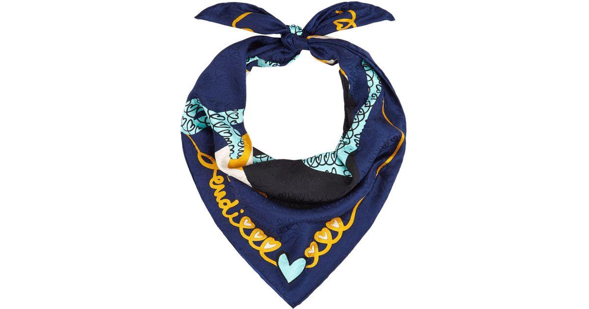 477118c90f closeout fendi scarf yellow heart f67e2 01d58