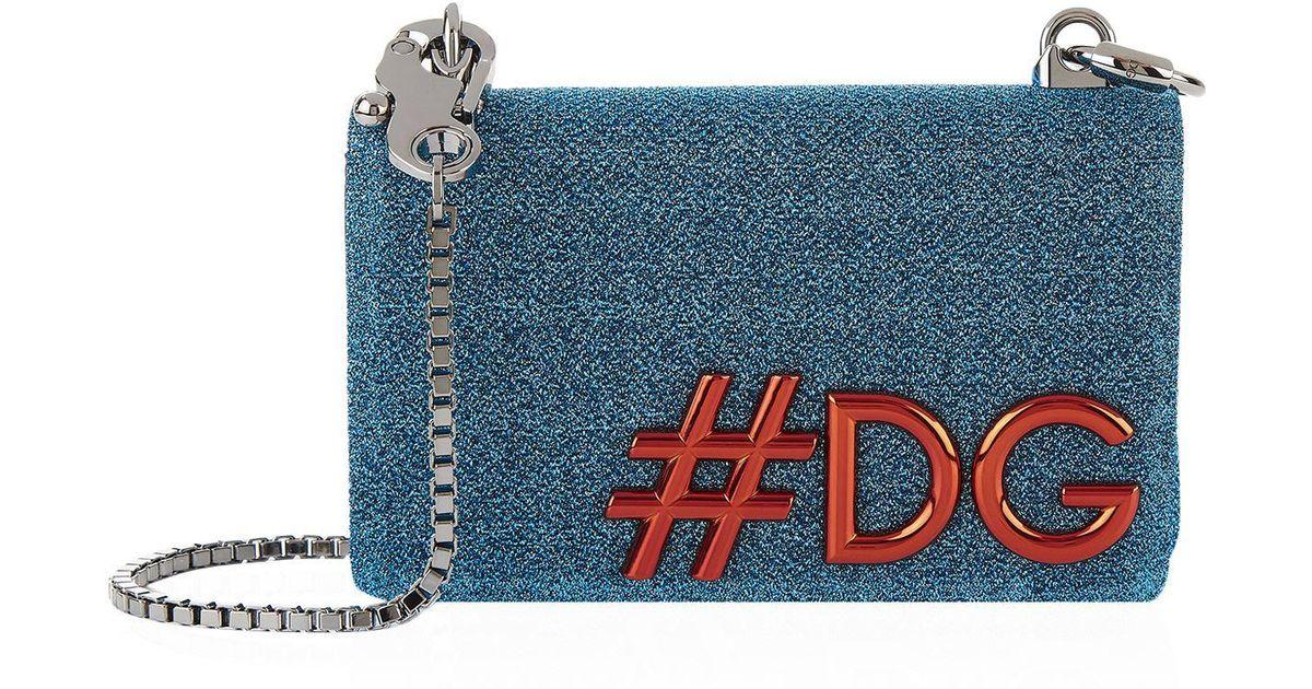 3b6db8c10a Dolce   Gabbana Lurex Dg Girls Cross Body Bag in Blue - Lyst