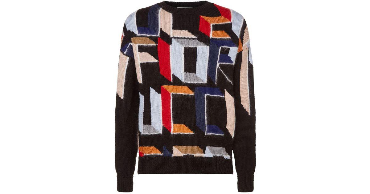 4af7b7bda3 Fiorucci Wool Logo Sweater for Men - Lyst