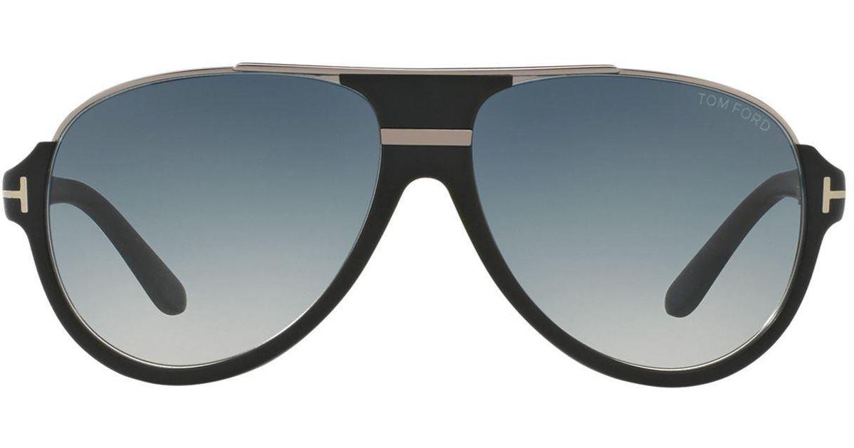 3845b4fddf841 Tom Ford Dimitry Vintage Aviator Sunglasses in Black for Men - Lyst