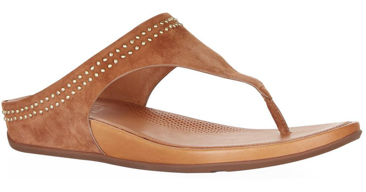 9290fc641c69 Lyst - Fitflop Suede Banda Studded Sandals in Brown