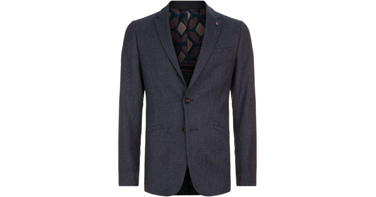 2592dd21e Ted Baker Bufalo Twill Blazer in Blue for Men - Lyst