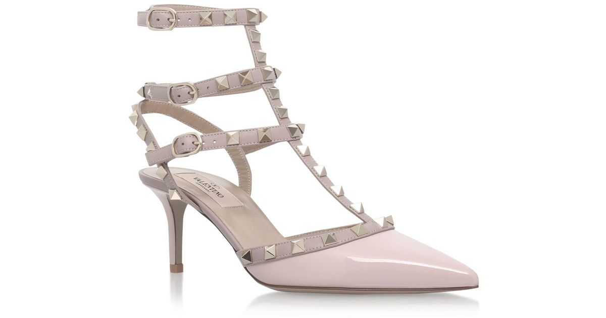 be3868143480e Valentino Patent Rockstud Pumps 65 in Pink - Lyst