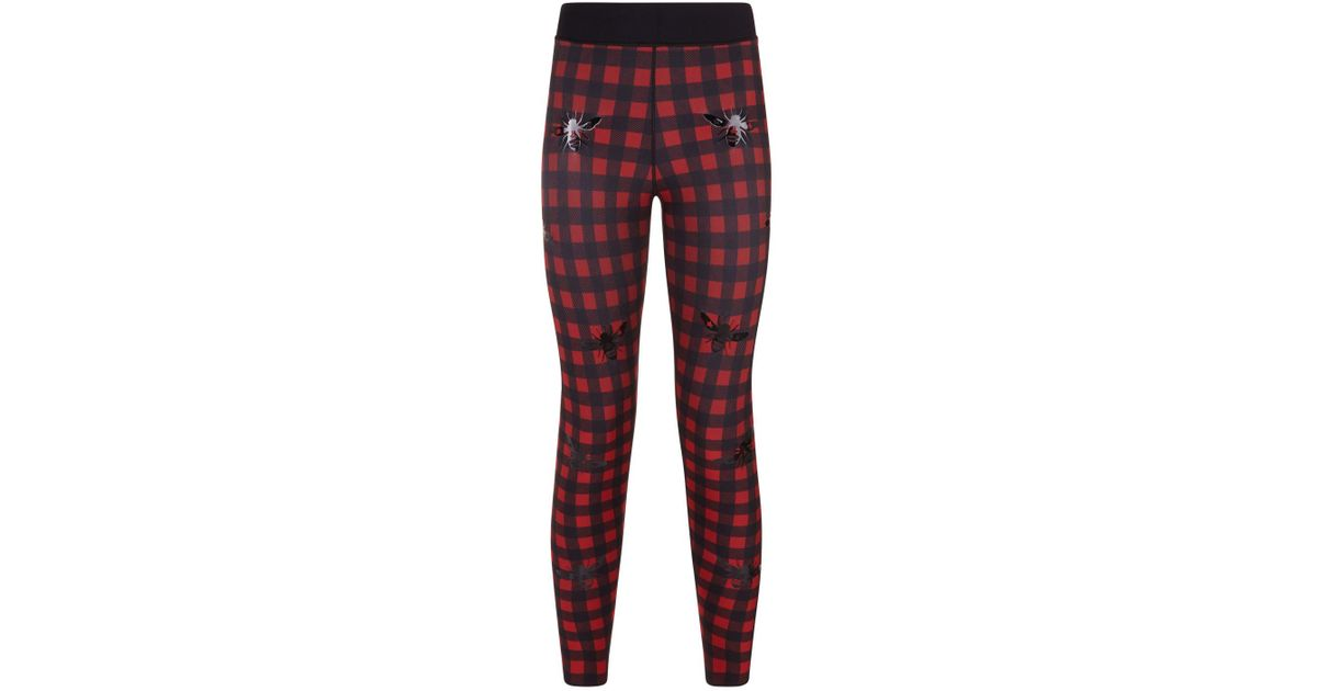 Ultracor Checked Bee Leggings In Red Lyst