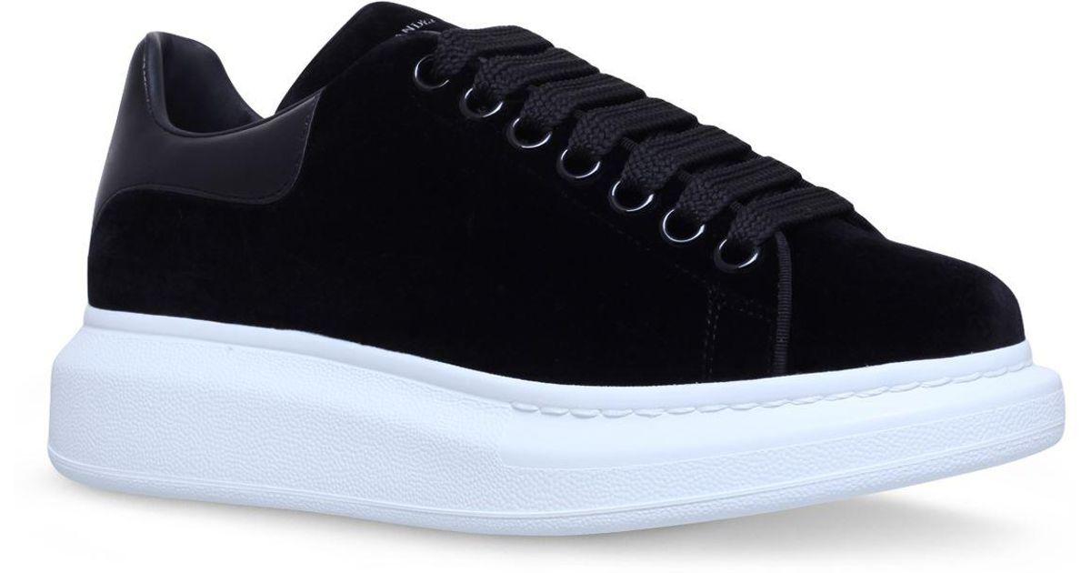 7f7a08a901b0 Lyst - Alexander McQueen Velvet Runway Sneakers in Black