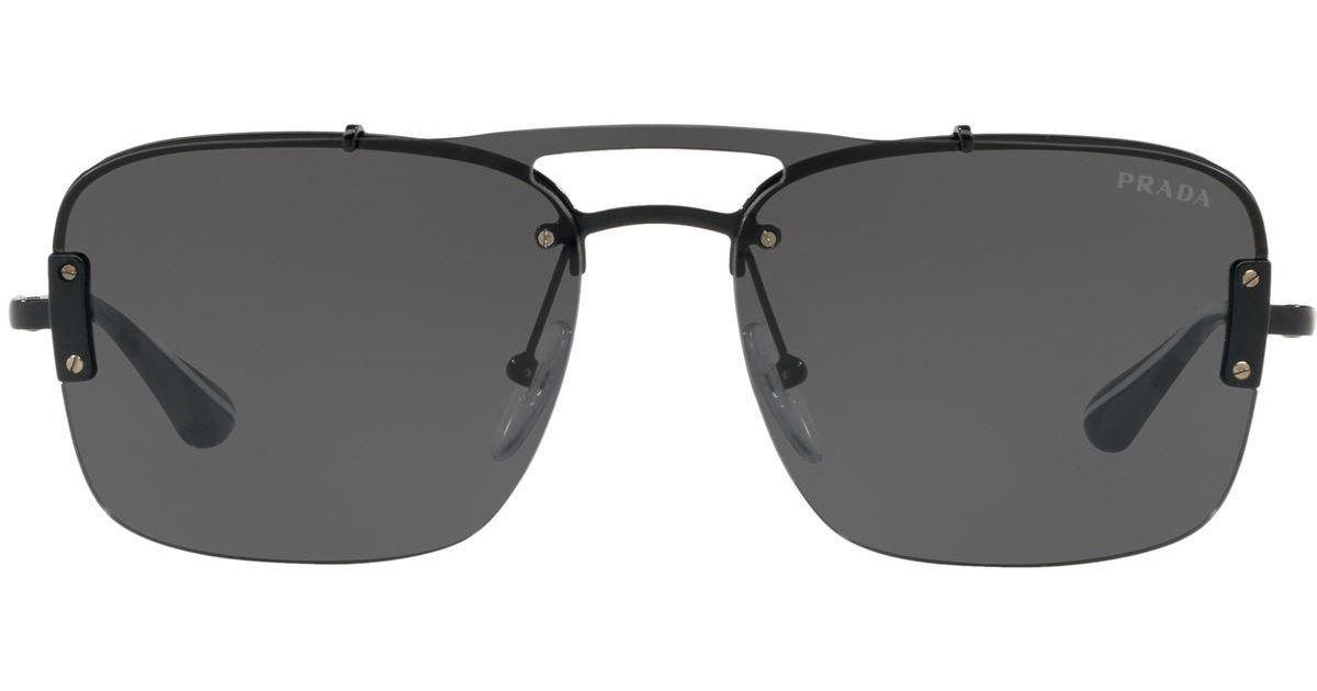f307b5c388 Lyst - Prada Pillow Sunglasses in Black for Men