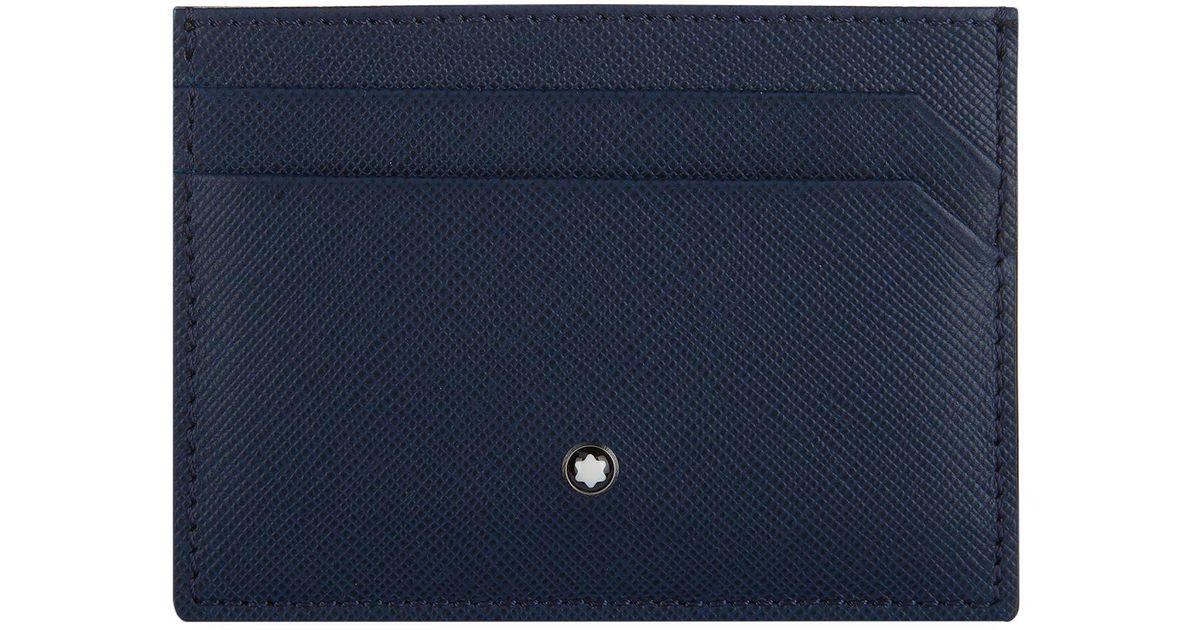 lyst montblanc sartorial card holder in blue for men - Mont Blanc Card Holder