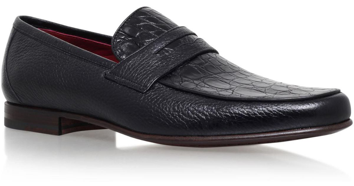 b32f2cd0669 Lyst - Stemar Crocodile Penny Loafers