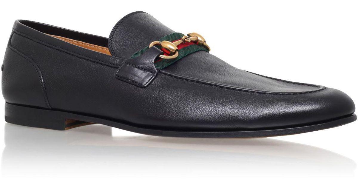 5529cc25b46 Lyst - Gucci Elanor Horsebit Leather Loafer in Black for Men