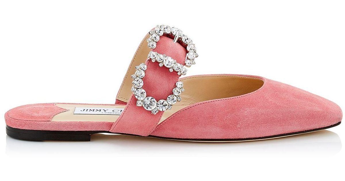 52fb04cf6d3e Jimmy Choo Suede Gee Flats in Pink - Lyst