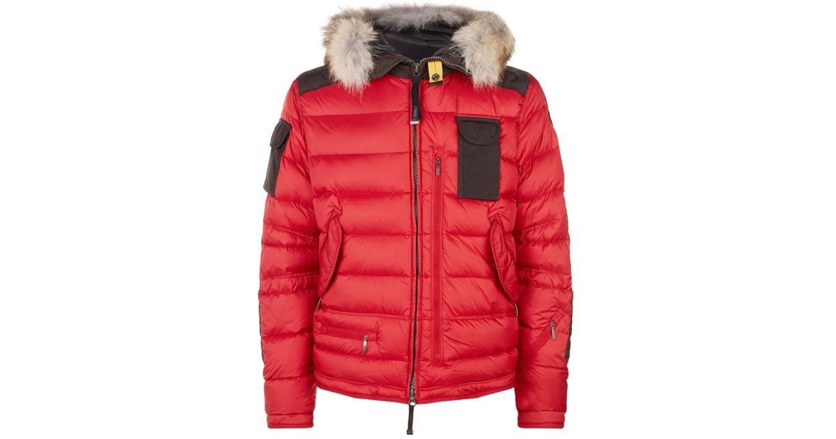 Lyst - Parajumpers Quilted Hooded Skimaster Jacket, Red, L in Red for Men