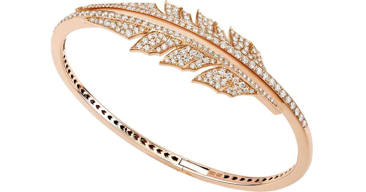 Stephen Webster 18kt gold open diamond feather bracelet 100% Guaranteed 7NDB6b