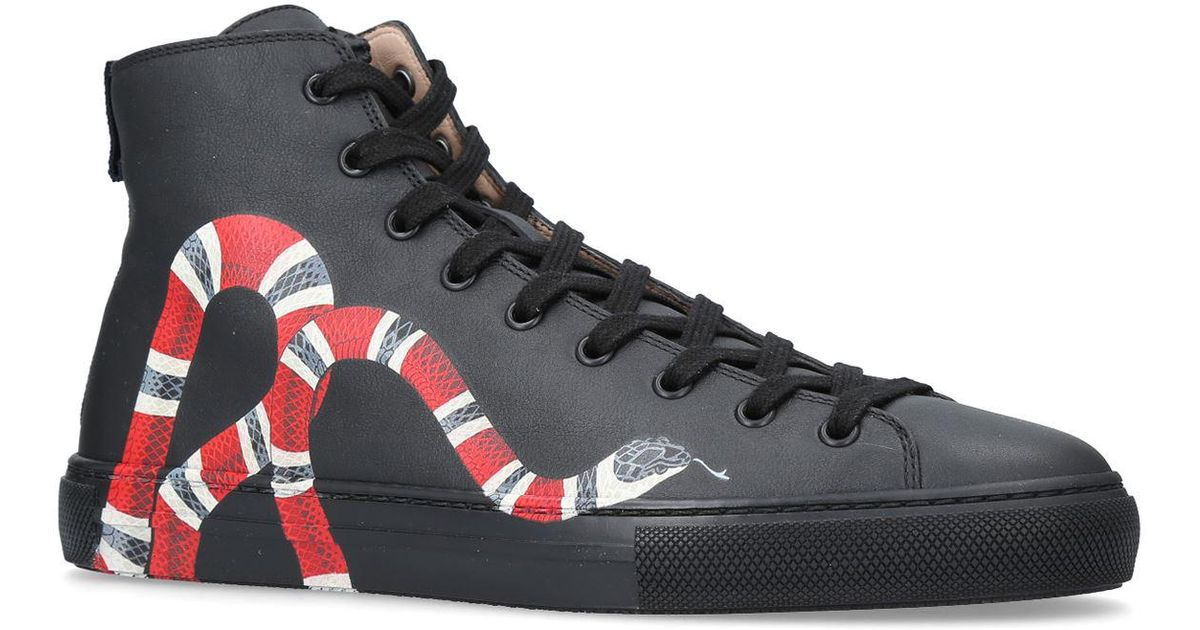 809c0a523 Gucci Major Snake High-tops in Black for Men - Lyst