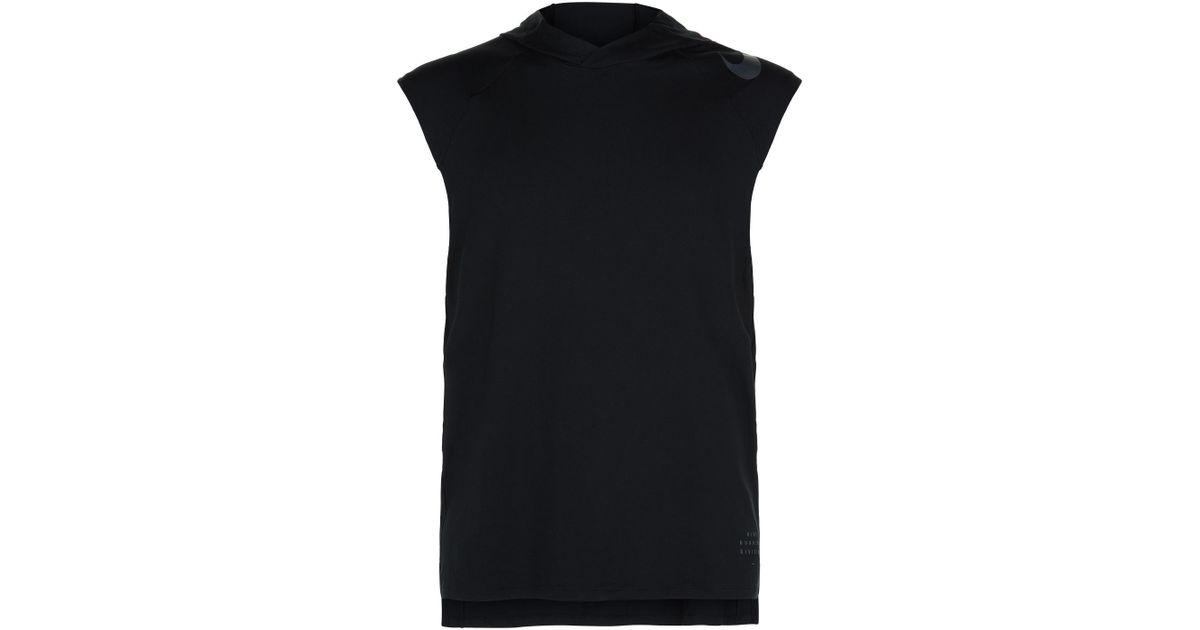 29314920ec112 Lyst - Nike Element Sleeveless Hoodie in Black for Men