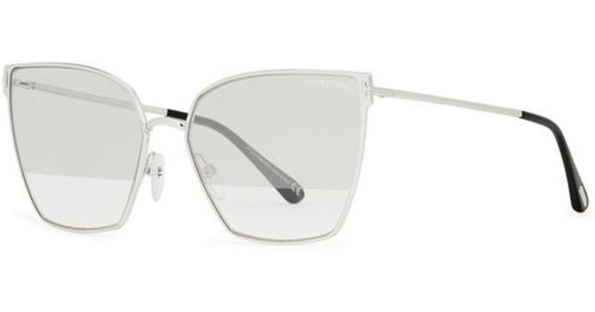 5c921a526d817 Tom Ford. Women s Gray Helena Mirrored Cat-eye Sunglasses. £320 From Harvey  Nichols