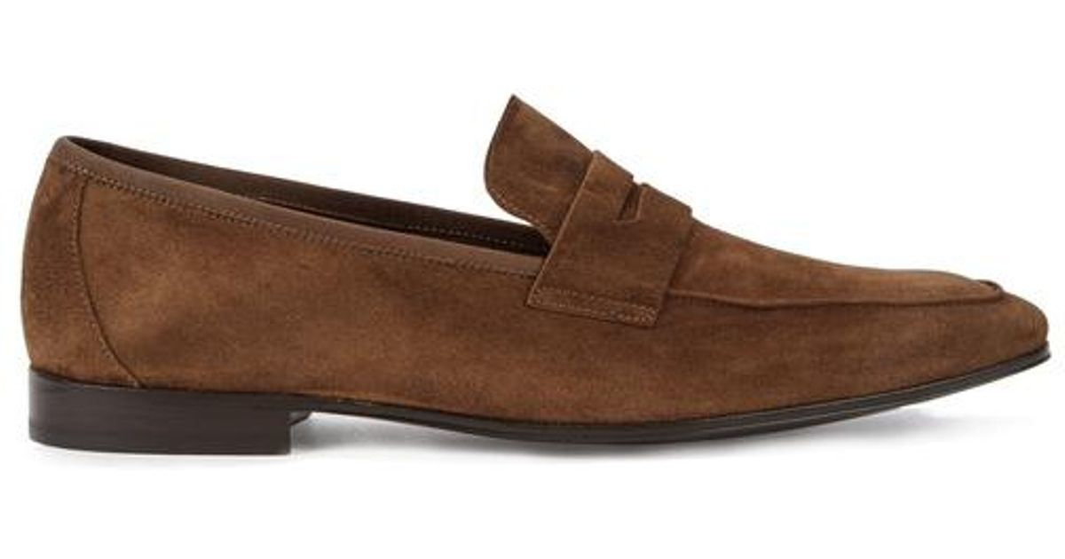 9a17eb72565 Paul Smith Glynn Brown Suede Loafers in Brown for Men - Lyst