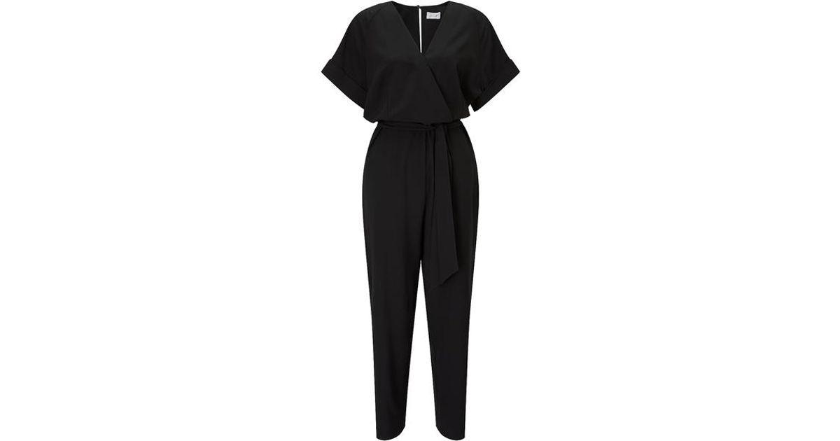 c7425ff326 Jigsaw Fixed Wrap Jumpsuit in Black - Lyst