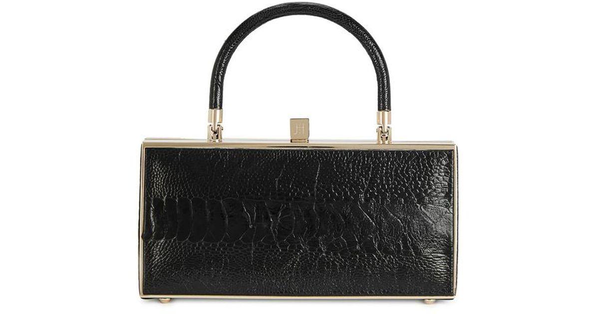 2e1dc00bbe37 Jill Haber Niles Black Ostrich Box Bag in Black - Lyst