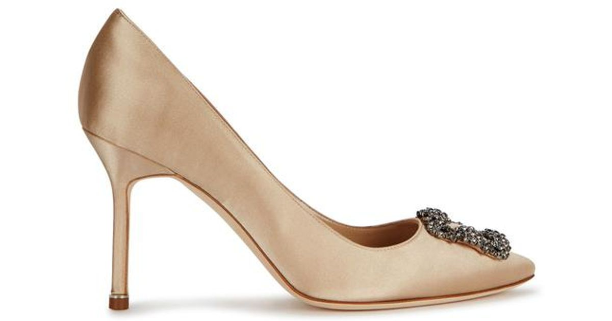 BB 90 Satin Champagne Pumps Manolo Blahnik 0FL37HjB