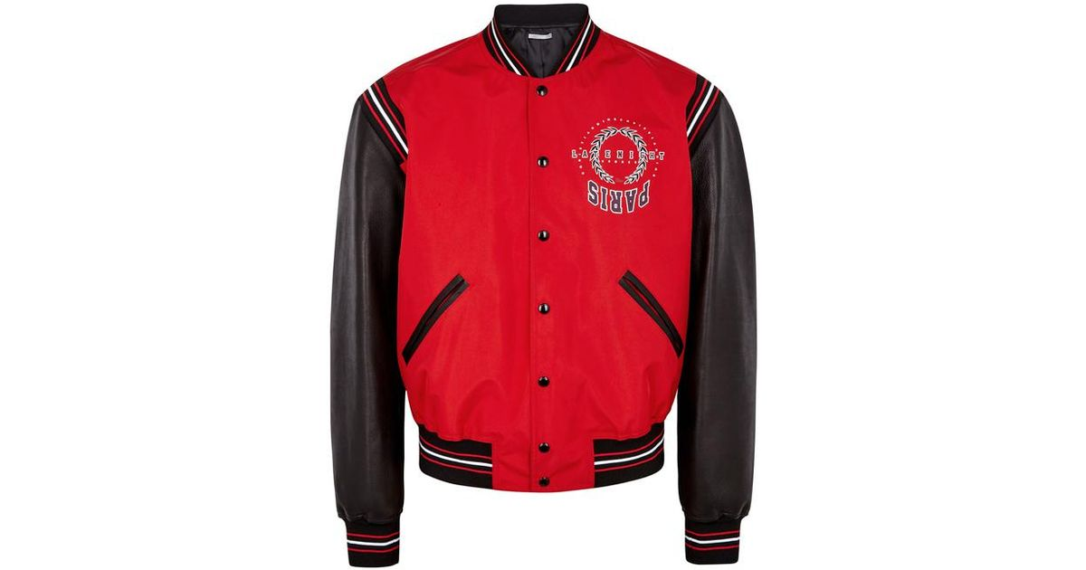 9d6eebb94f4 Dior Homme Late Night Summer Paris Shell And Leather Jacket in Red for Men  - Lyst