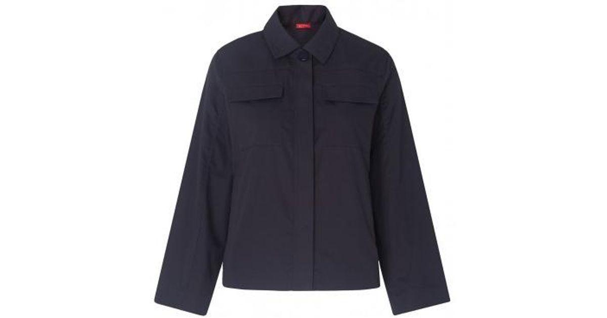 47cc0dec53a Kitri Maddison Shirt Jacket in Blue - Lyst