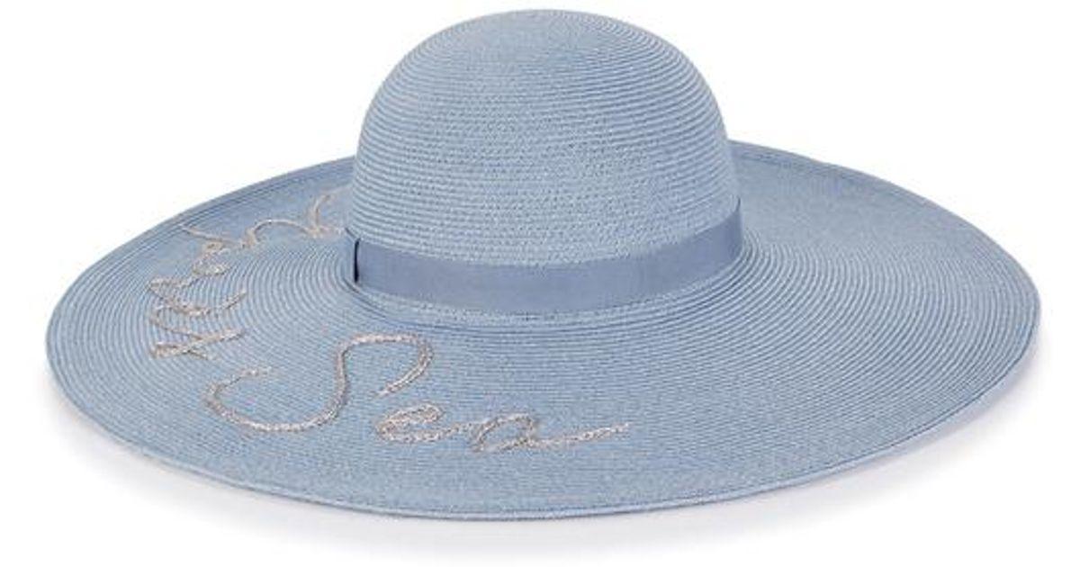 5c61a35a Lyst - Eugenia Kim Bunny Apres Sea Wide-brim Hat in Blue
