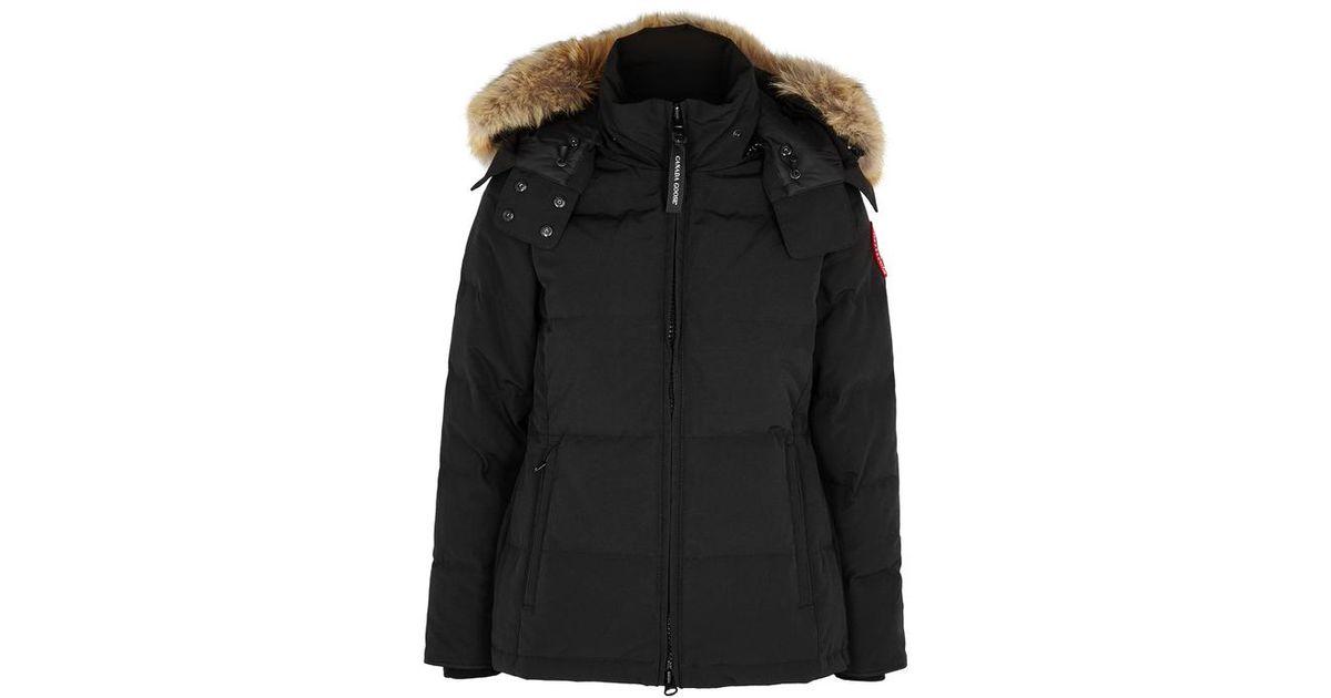 55a5d7b5adb5 Canada Goose Chelsea Fusion Fit Fur-trimmed Jacket in Black - Lyst