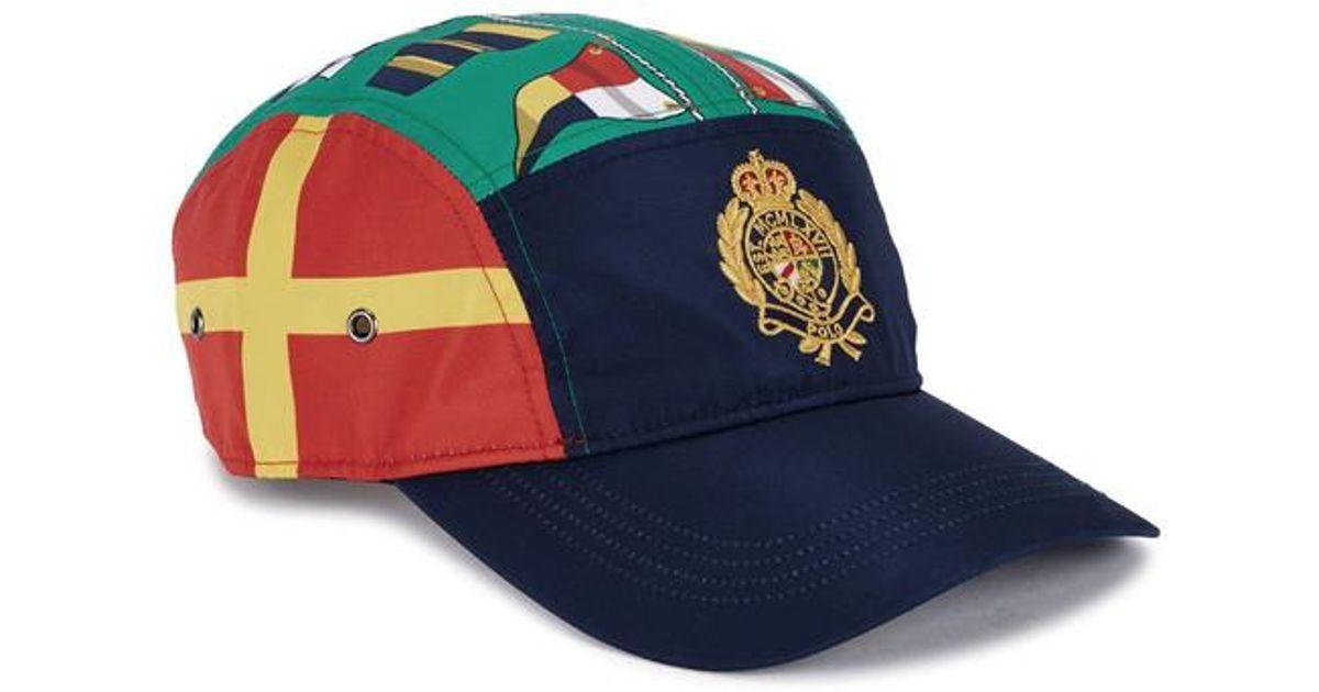 3d5f816ad4012 Polo Ralph Lauren Flag-print Shell Cap in Blue for Men - Lyst