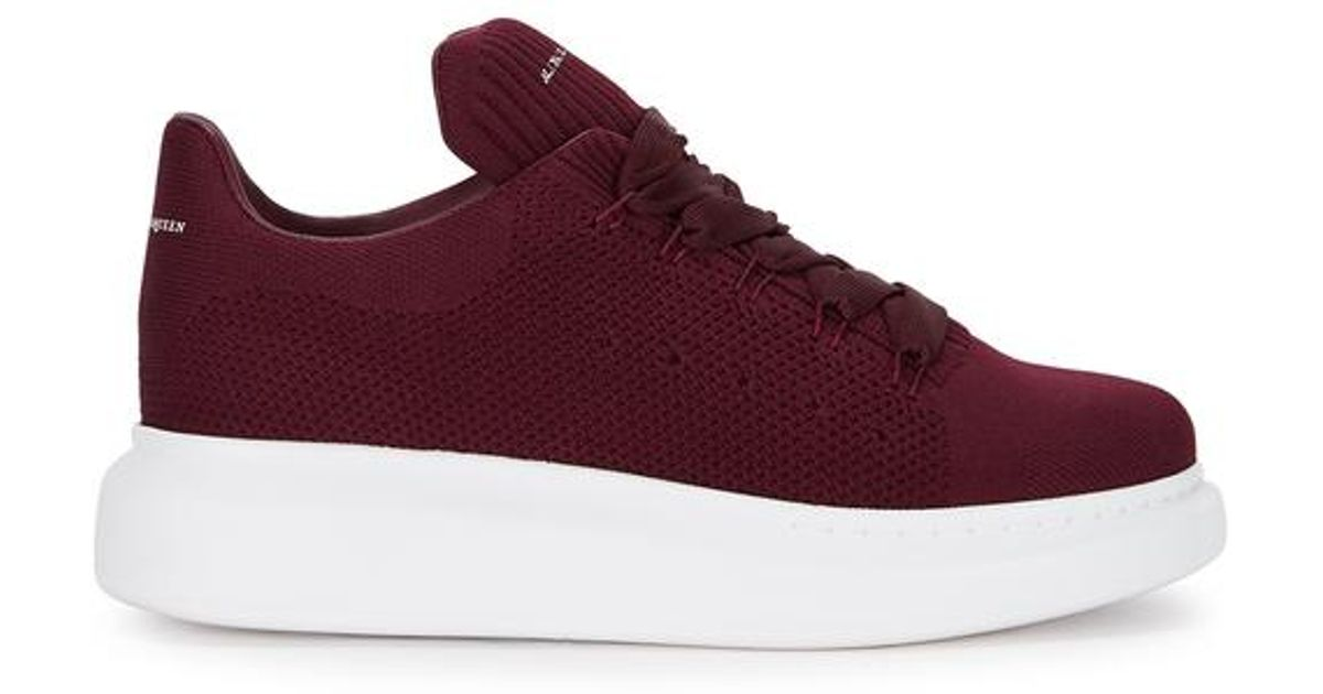 29535a615e66 Alexander McQueen Larry Burgundy Knitted Trainers in Purple - Lyst