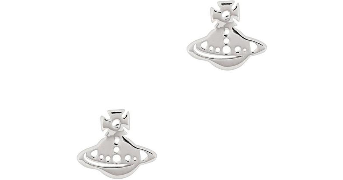 8a2b92853 Lyst - Vivienne Westwood Yeni Silver Tone Stud Earrings in Metallic