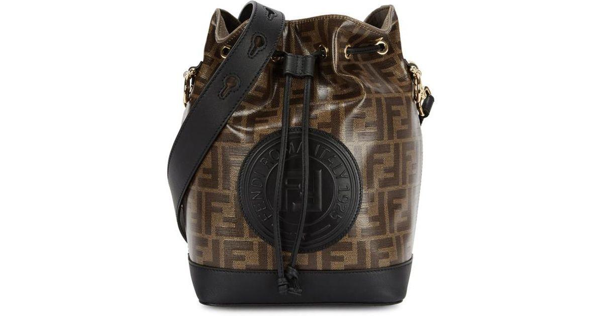 05fa30ad4d Fendi Mon Tresor Monogrammed Bucket Bag - Lyst