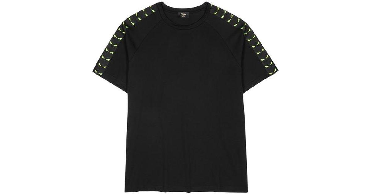 475c97396 Fendi Black Cotton Bag Bug T-shirt in Black for Men - Lyst
