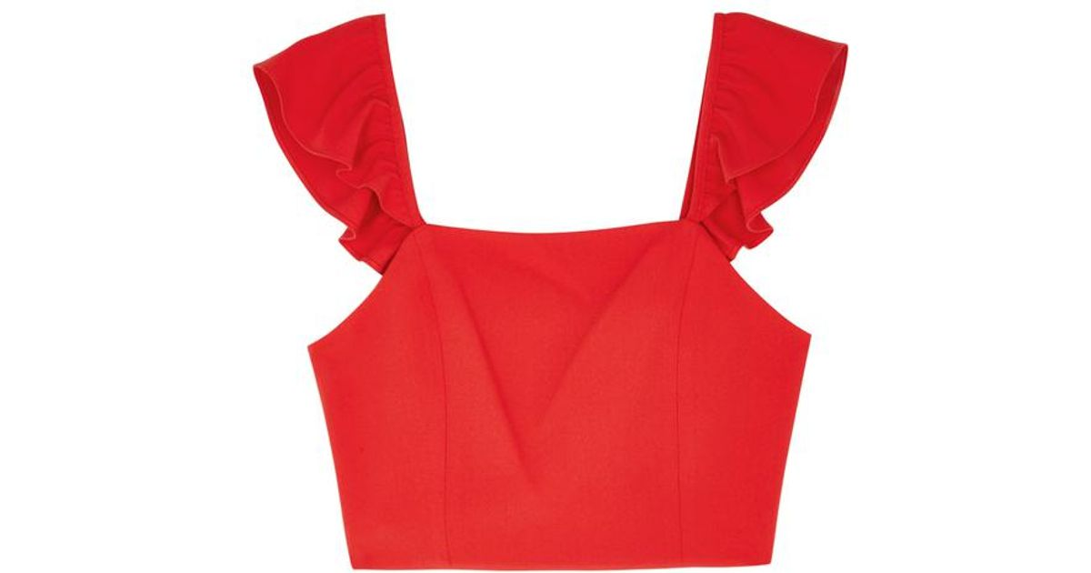 0d3516637f35ac Alice + Olivia Celestia Red Cropped Top in Red - Lyst