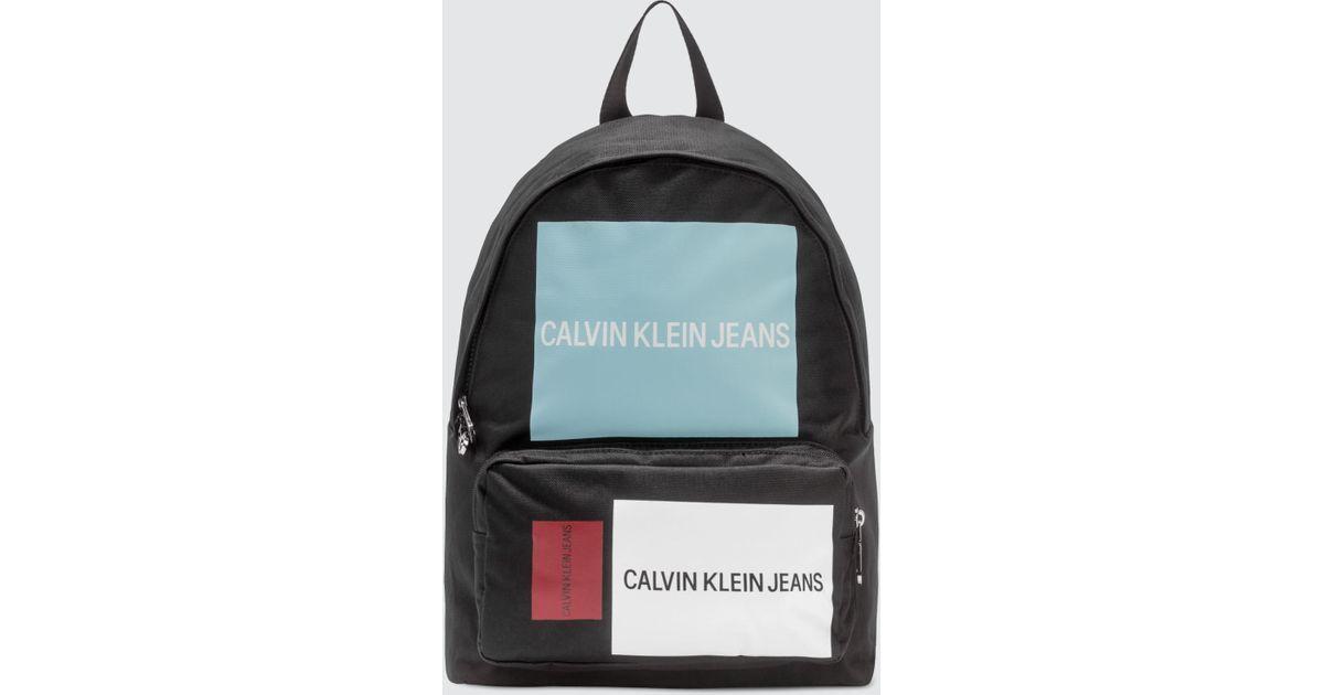 13eaf1136e2 Calvin Klein Sport Essential Cp Bp 45 Backpack Patch Black in Black for Men  - Lyst