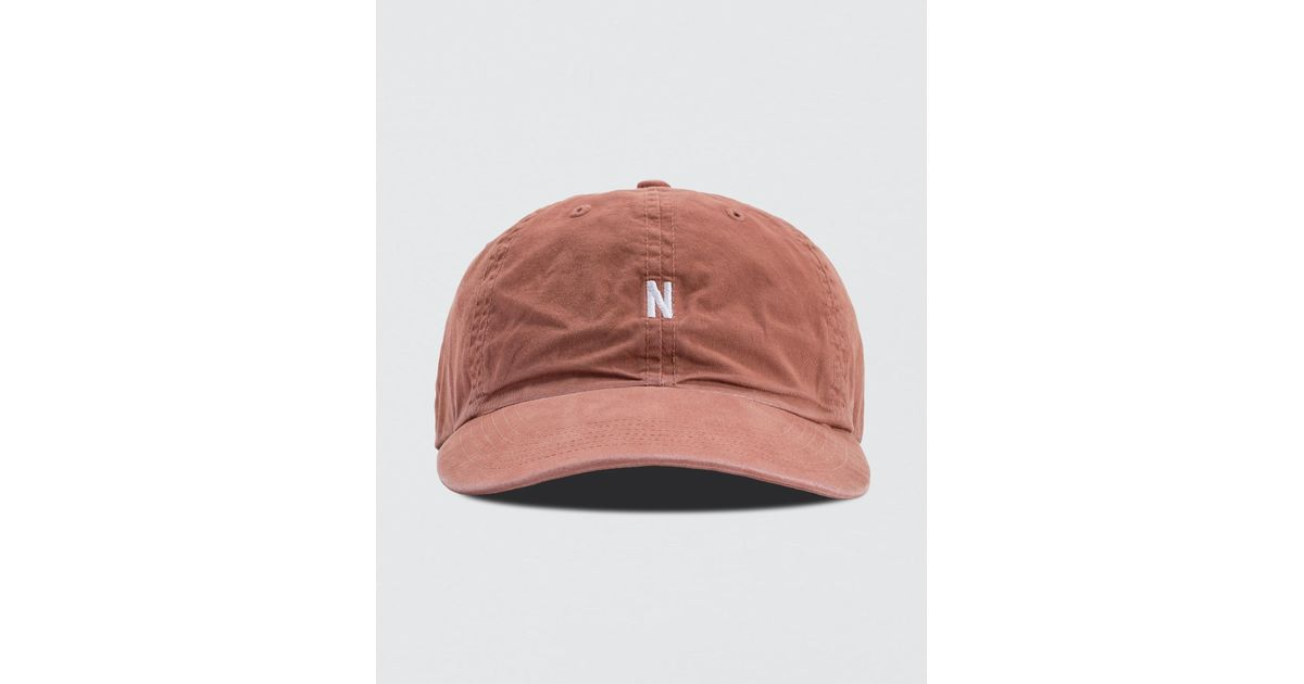 f507b961fb9 Norse Projects Light Twill Sports Cap in Pink for Men - Lyst